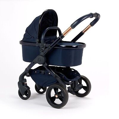iCandy Peach Designer Collection Pushchair + Carrycot - Midnight Edition New