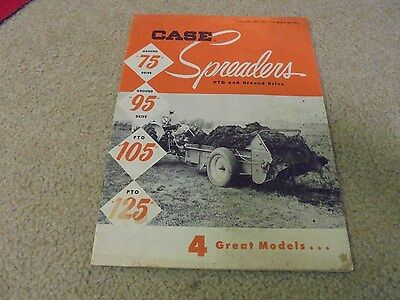 Vintage J. I. Case Spreaders PTO and Ground Drive Brochure