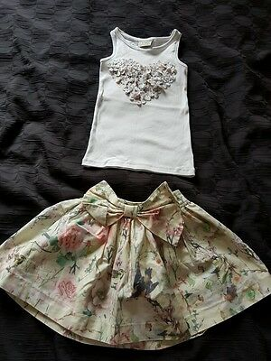 Cool Candy by Colleen skirt. Next vest Outfit. 4-5years.