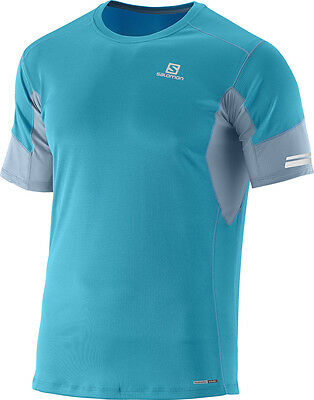 -- Salomon T-Shirt Agile SS Tee, Summit Blue/Stone Blue (A07)