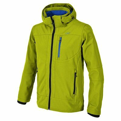-- CMP Giacca Softshell Jacket Zip Hood, Lime Green (A07)