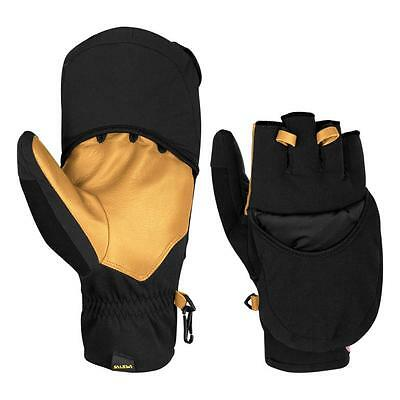 Salewa Guanti Sesvenna WS Windstopper PRL Primaloft Fold Back Mitt Gloves, Black