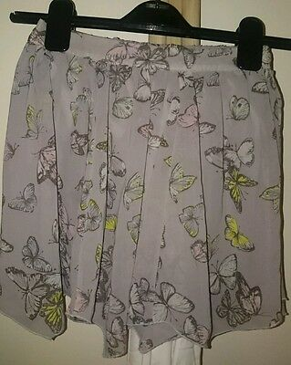 Girls butterfly floaty skirt age 6-7