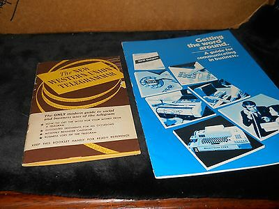 western union collectibles-2 booklets-4 telegrams