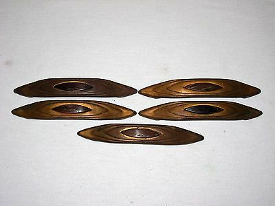 "5 Mid Century Art Deco Drawer Door Cabinet Pulls Bakelite 4 ½"" Center Hole"