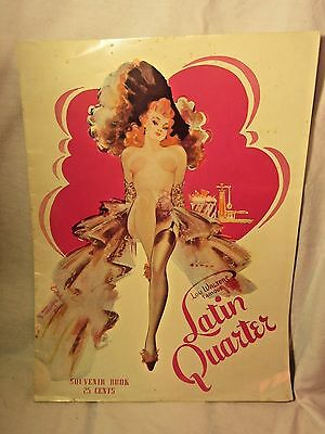 Latin Quarter Souvenir Booklet With Lucille Ball Risque Pin Up Girls 1950's