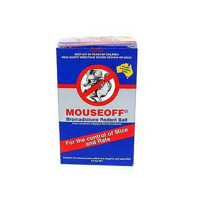 Mouseoff Bromadiolone Rat and Mouse 20 Sachets Animal Control Technologies 200g