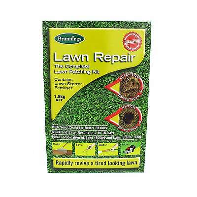 Lawn Seed Grass Repair Rapidly Revive a Tired Looking Lawn Brunnings 1.5kg