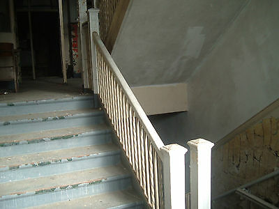 Wought iron stair railing pine cap, Greenbrier High School, Ronceverte, WV Lot 4