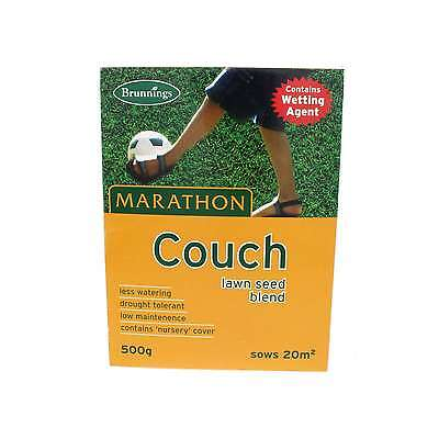 Lawn Seed Marathon Couch Drought Resistant Grass Seed Brunnings 500g Sows 20 sqm