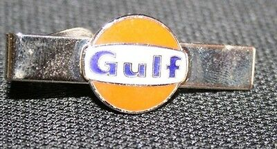 #Vtg. GULF Company advertising gas station employee service award tie clip clasp
