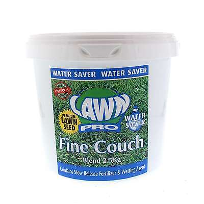Lawn Pro Fine Couch Blend Grass Seed 2.5kg Covers 250sqm