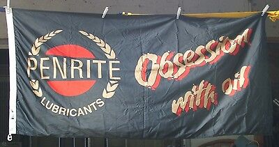 PENRITE Lubricants - Obsession with Oil - Flag/Banner - RARE ITEM - MAN CAVE