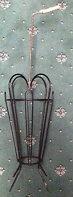 Vintage/Retro 1950's/1960's Metal Umbrella and Walking Hike Stick Stand/Storage