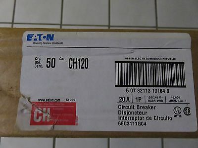 50 Cutler Hammer CH120 circuit breakers NEW IN CLEAN FACTORY BOXES
