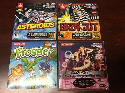 4 PC Games - Taco Bell Atari - Asteroids w/ Pong Breakout Break Out & Frogger