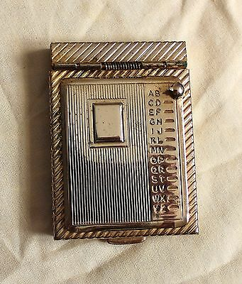 Vintage Miniature Address/telepne Book In Gold Tone Metal Never Used See Photos