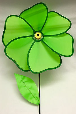 """A++ NEW 6-Petal 2-Toned Green 21"""" Flower Pin-Wheel St. Patrick's Day Decorations"""
