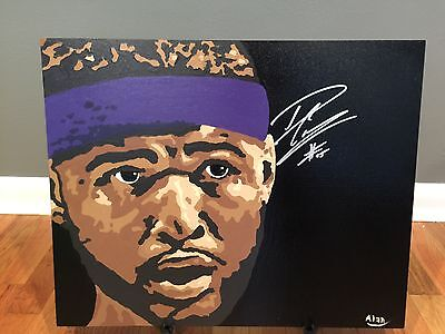 1/1 DeMarcus Cousins Signed 16x20 Original Painting Sacramento Kings COA 1 of 1!