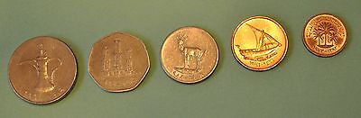 United Arab Emirates, 5 coin set, Collect foreign coins