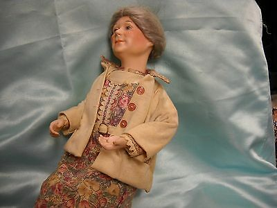 Doll Of Grandmother/vintage American/danbury Mint/larry Noble Signed