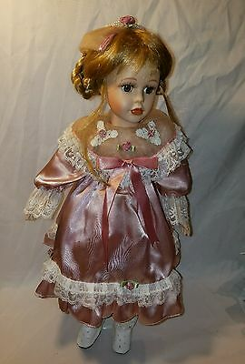 """Seymour Mann doll 18"""" Porcelain & Cloth with stand"""