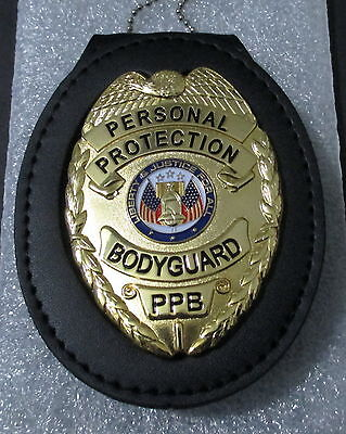 Obsolete Personal Protection Badge Bodyguard Replica Movie Prop & Badge Holder