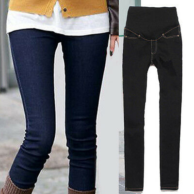 New Pregnant Women Abdominal Maternity Denim Pants Belly Leggings Jeans Trousers