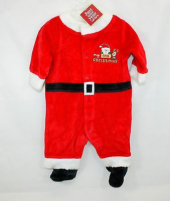 Carters Just One Year Babys First Christmas Santa Infant Sleeper 0-3 Months  NWT 77f64b425