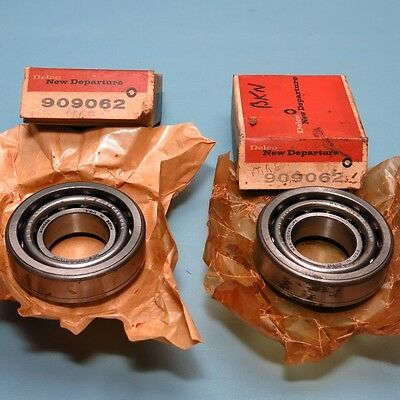 NOS Pair Inner Front Wheel Bearings 909062 B62 1941-1958 Cadillac Buick Olds