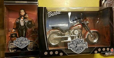 Harley Davidson Barbie Doll and Fatboy Motorcycle 1999
