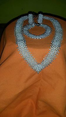 Sterling Silver lace necklace set