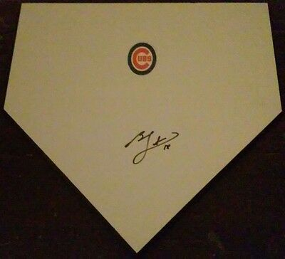 Ben Zobrist Chicago Cubs Star 2016 W.s Champion & Mvp Signed Home Plate W/proof