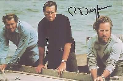 Richard Dreyfuss---Roy Scheider  & Robert Shaw in  JAWS---2 Hand Signed Photos