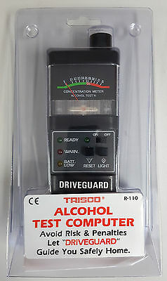 TRISCO BLACK R-110 Breathalyser Driveguard alcohol tester NEW