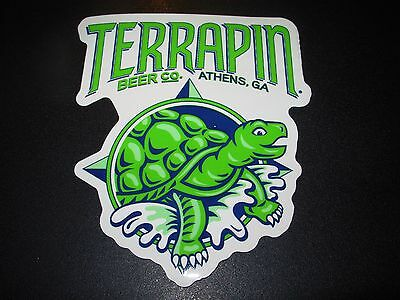 TERRAPIN Athens Georgia DIE CUT LOGO STICKER decal craft beer brewing brewery