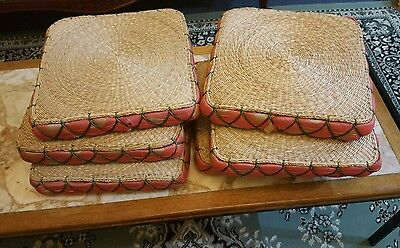 6 woven wicker seat covers