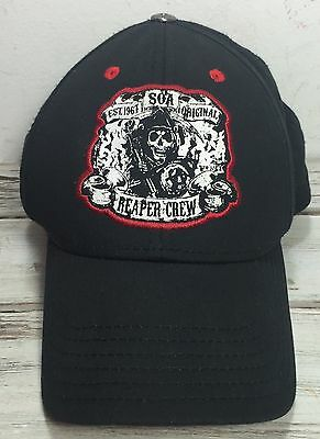 Authentic Sons Of Anarchy Reaper Crew Black SnapBack Baseball Hat Cap