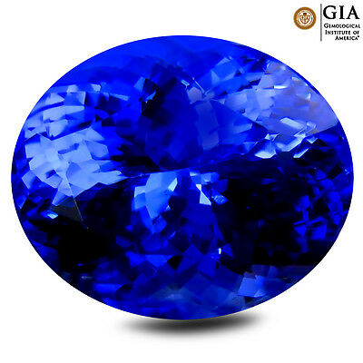 10.17 ct GIA CERTIFIED AAA+ SPARKLING OVAL CUT (14 X 11 MM) D'BLOCK TANZANITE