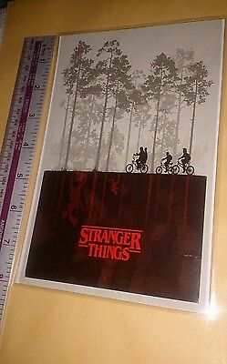 Stranger Things '009'  -  MAGNETIC MINI POSTER (21cm x 14cm) and Laminated