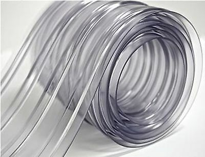 "150' Roll 8"" Wide Ribbed PVC Plastic Strip Curtain for Walk In Coolers Warehouse"