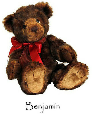 Korimco Signature Bear Collectable Jointed Teddy – Benjamin [40cm] Plush Toy NEW