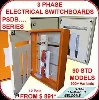 18 Pole 3 Phase Electrical Switch board / DB  / Sub Board, Trade Quality Only