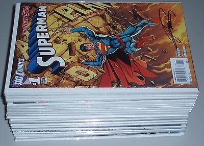 Superman #1 - #52 + Annua1 1 2 3 Complete Series Signed Avg NM 9.4 DC New 52