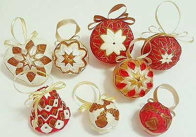 8 Assorted Limited Addition Hand Made Christmas Ornaments