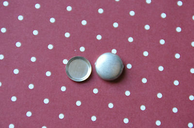 DIY 50 x self cover flat back metal buttons size 20 (12mm)