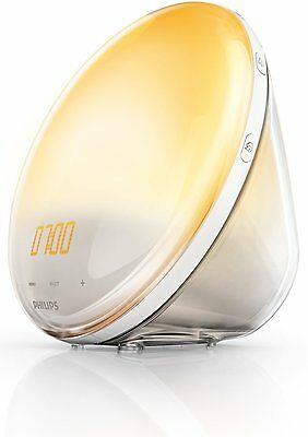 Philips Wake-Up Light Alarm Clock HF3520/01 Coloured Sunrise Simulation 5 Sounds