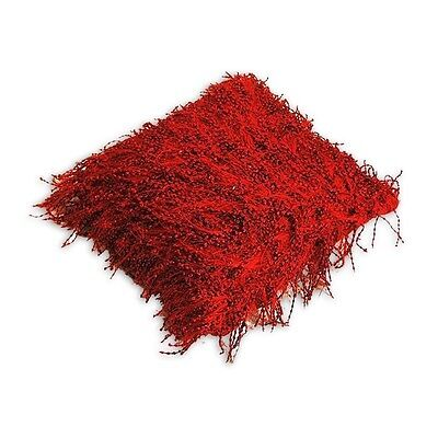 Silkroute PL806-3 Red Zilmil Shaggy Pillow