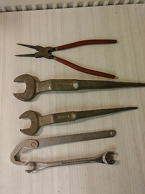 3 x Britool spanners,1 xKennedy Large Pliers, 1 x Mulpa Wrench Job Lot