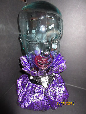Purple CREEPY COSTUME COLLAR with SKULL accessory by Ganz EH38482